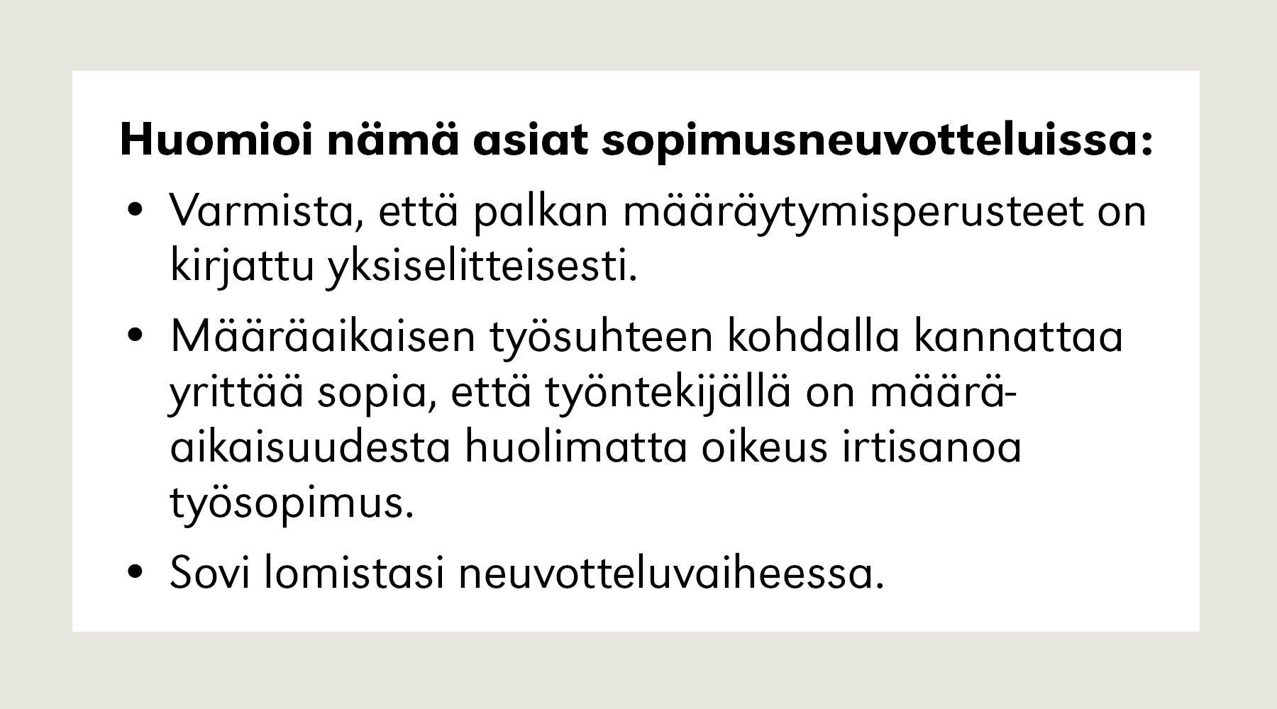Loma-Ajan Palkka