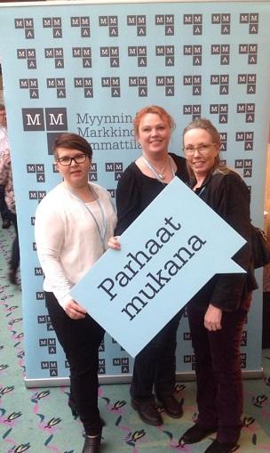 /></p>  <p>MMA:n Kanta-Hämeen aktiiviset osallistuivat Aktiivitapahtumaan Mikkelissä. Kuvassa Pia Ryöppy (vas.), Moonika Virta ja Sirkku Vienamo.</p>